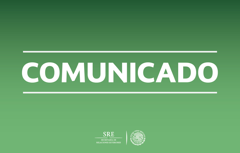 El Gobierno de México celebra la Terminación de las Negociaciones entre el Gobierno de Colombia y las FARC-EP el día de hoy en La Habana, Cuba