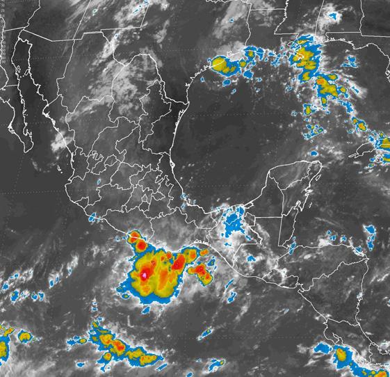 Tormentas de fuertes a muy fuertes, se prevén en estados del norte, el centro y el sureste de México.