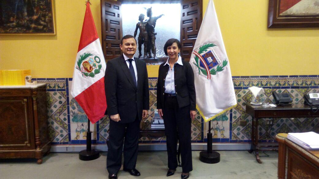 Reunión de trabajo con la Subsecretaria para América Latina y el Caribe, Socorro Flores Liera y el Viceministro de Asuntos Exteriores, Néstor Popolizio Bardales