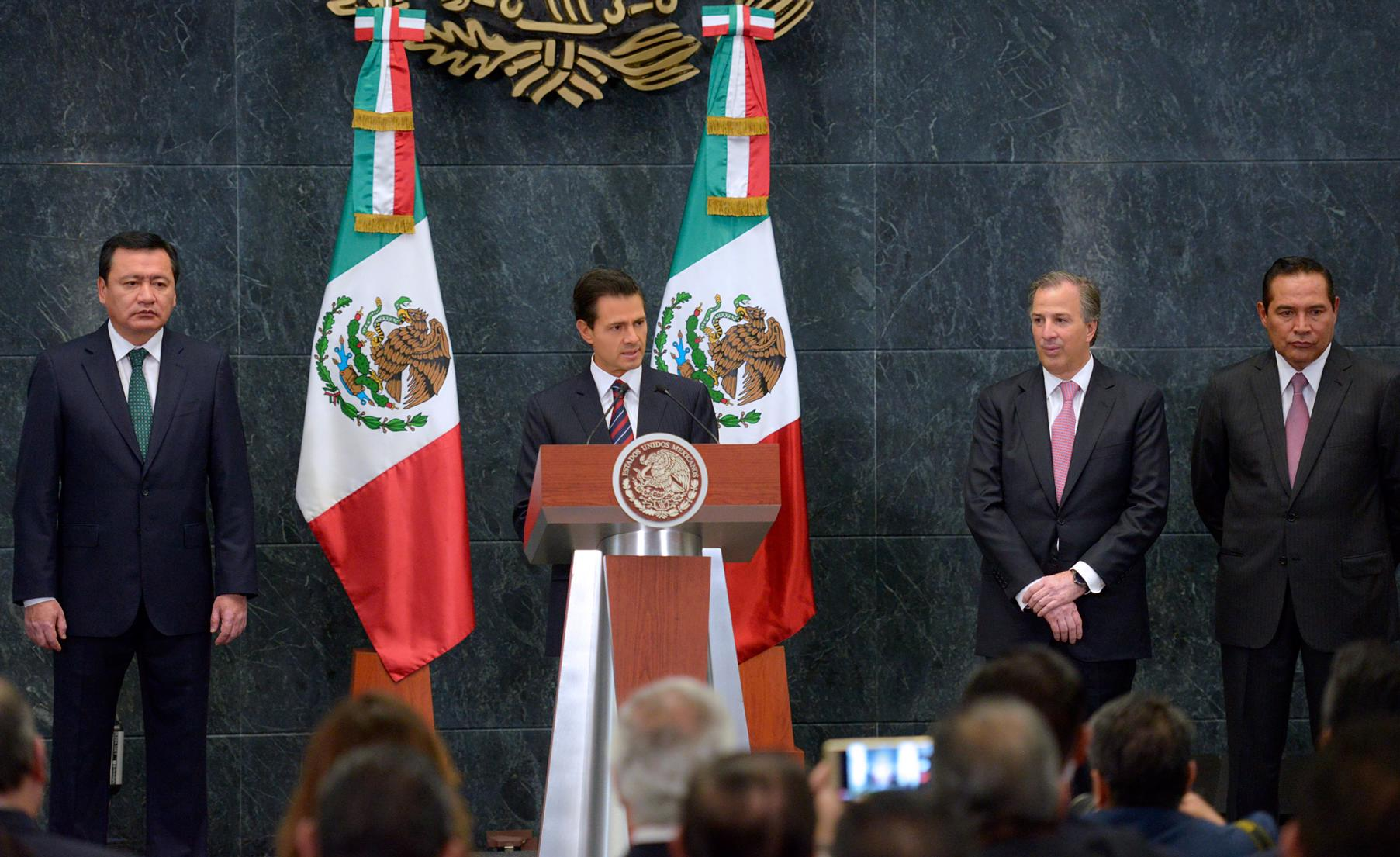 The president announced his acceptance of Luis Videgaray Caso's resignation as Secretary of Finance and Public Credit.