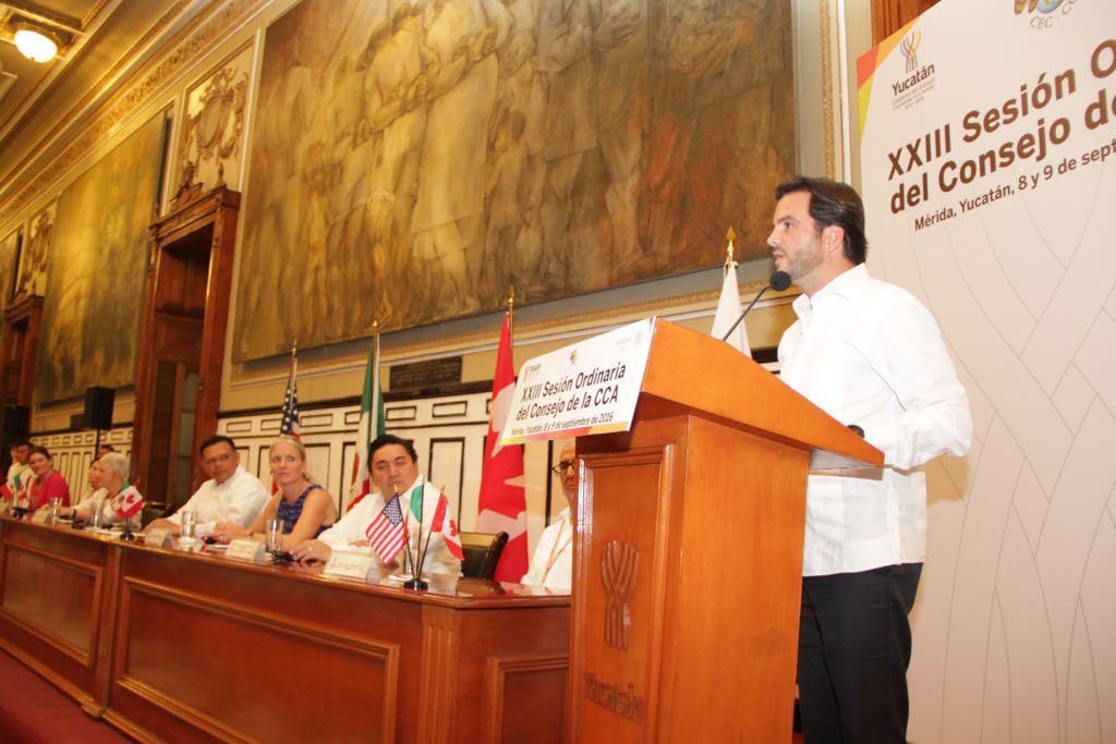 Pacchiano Alamán inauguró la XXII Sesión Ordinaria de la CCA.