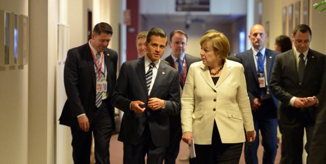 El Presidente Enrique Peña Nieto se reunió en Bruselas, Bélgica, con la Canciller de Alemania, Ángela Merkel.