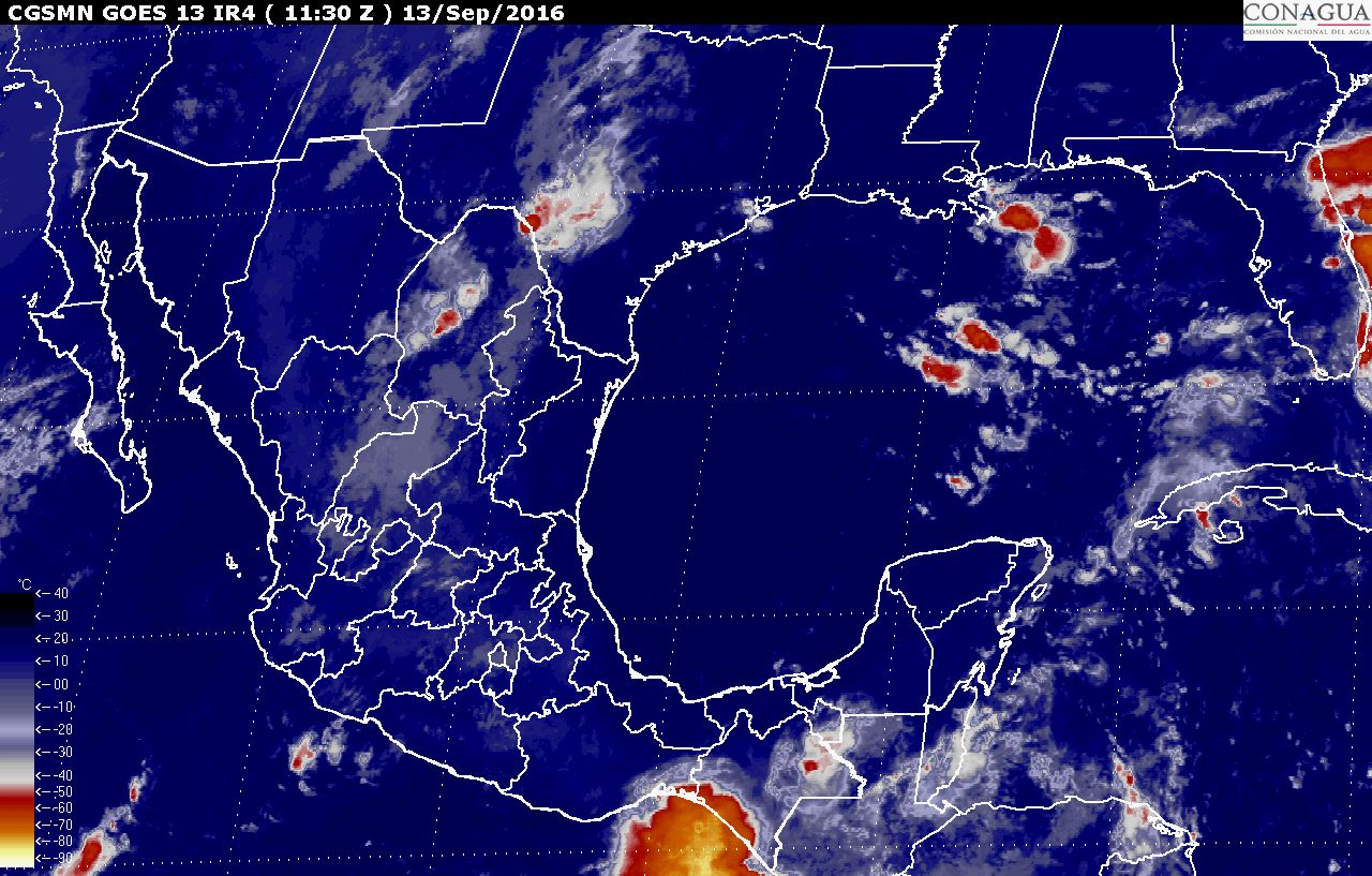 Para las próximas horas, se prevén tormentas intensas en Chiapas.
