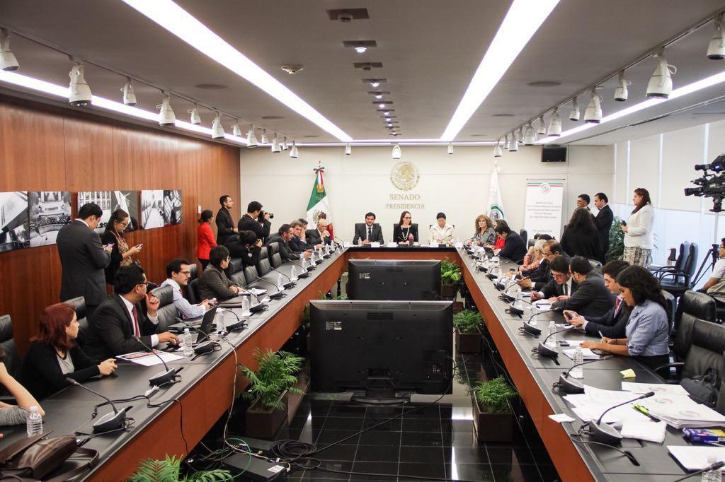Visita del Secretario Pacchiano Alamán al Senado de la República. Ratificación del Acuerdo de París.