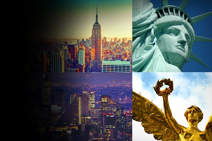 Nueva York y la Ciudad de México.