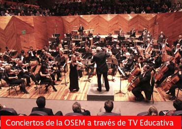 Conciertos de la OSEM a través de TV Educativa