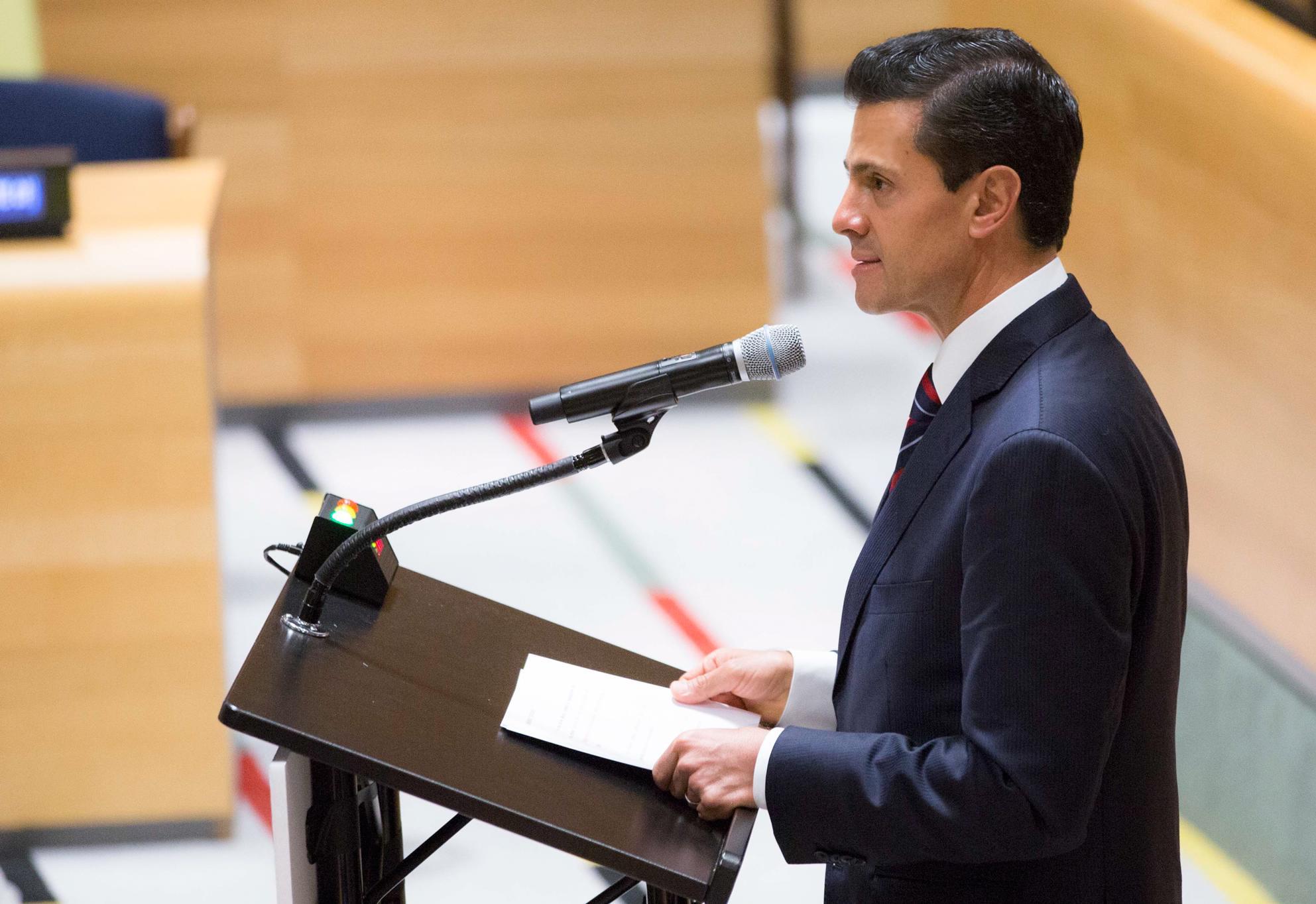 El Primer Mandatario participó en la Sesión Plenaria de la Reunión de Alto Nivel para atender grandes movimientos de migrantes y refugiados, Asamblea General de la ONU.