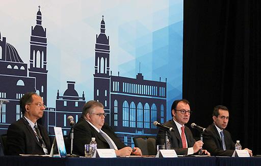 El Secretario de Hacienda, Dr. Luis Videgaray Caso, en el marco de la Conferencia Anual de Desarrollo Económico, sobre Productividad, Crecimiento y Estado de Derecho, organizada por el Banco Mundial y el Banco de México