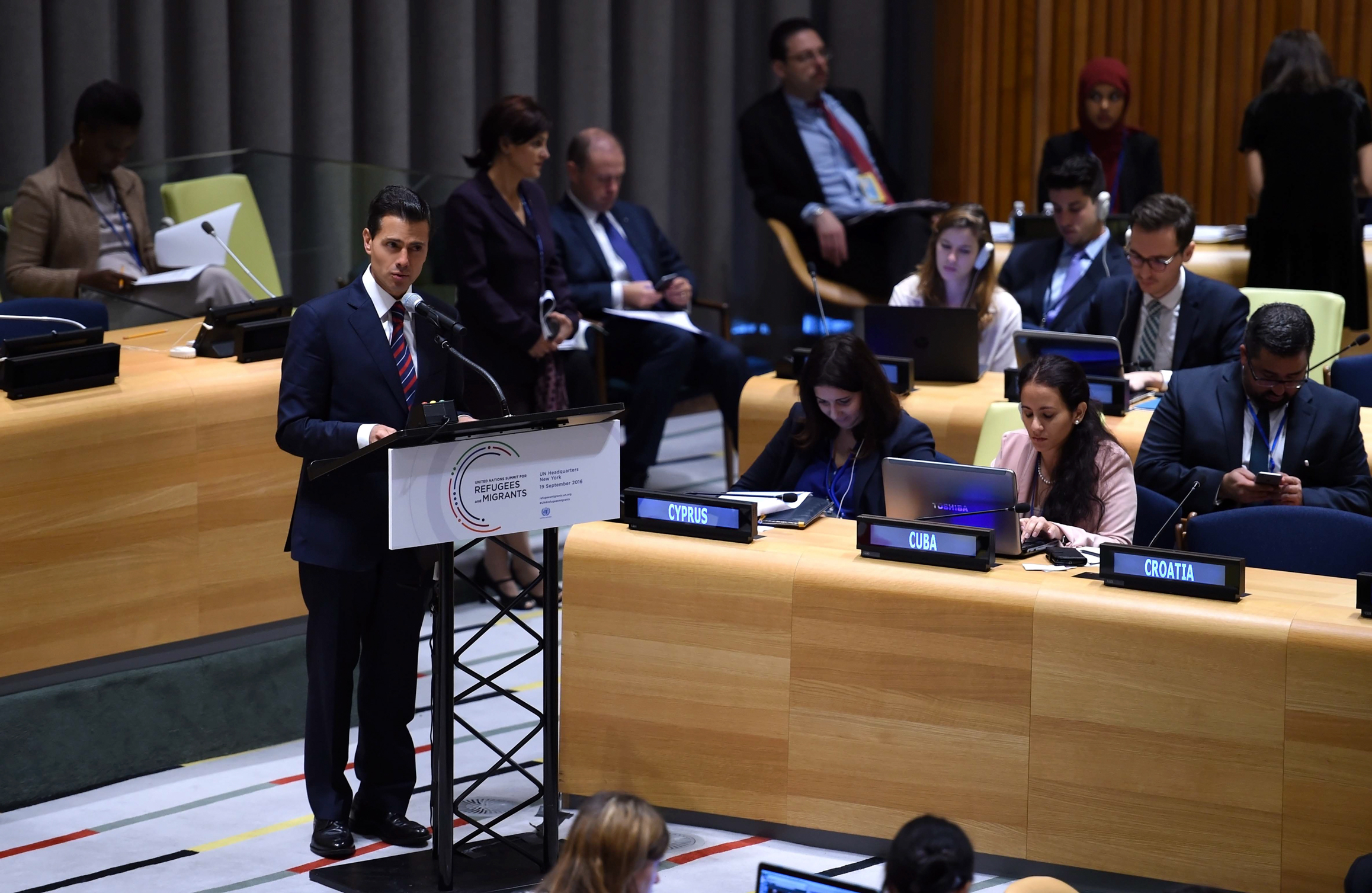 We started a dialogue that must foster  responsibility and cooperation among nations; it is time to implement an inclusive, supportive vision, he said.
