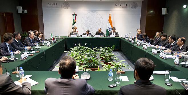 Reunión con el Ministro de Estado para Petróleo y Gas Natural de la India, Excelentísimo señor Dharmendra Pradhan