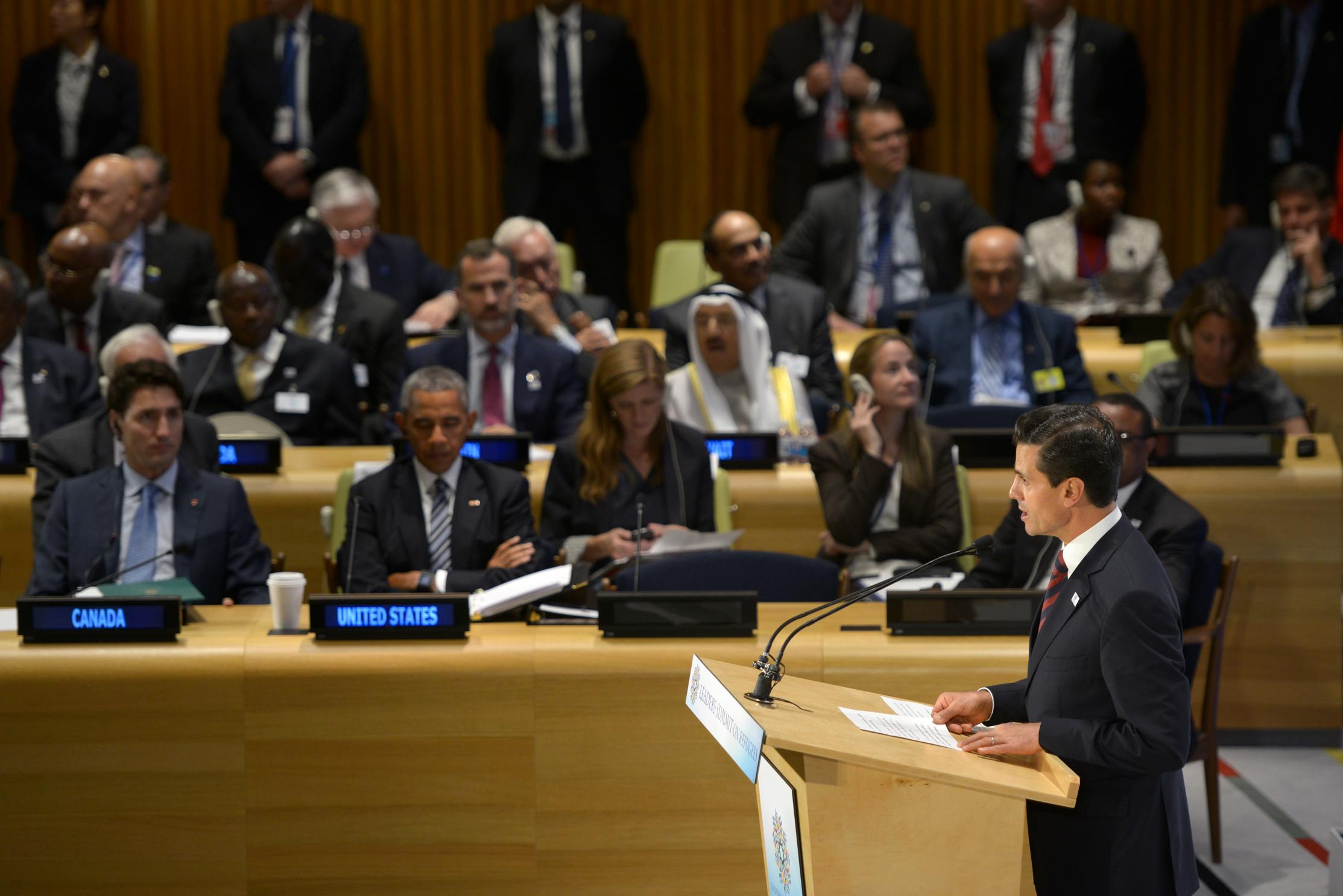 The president co-chaired the Leaders' Summit on Refugees, together with US President Barack Obama, and UN Secretary General Ban Ki-moon.