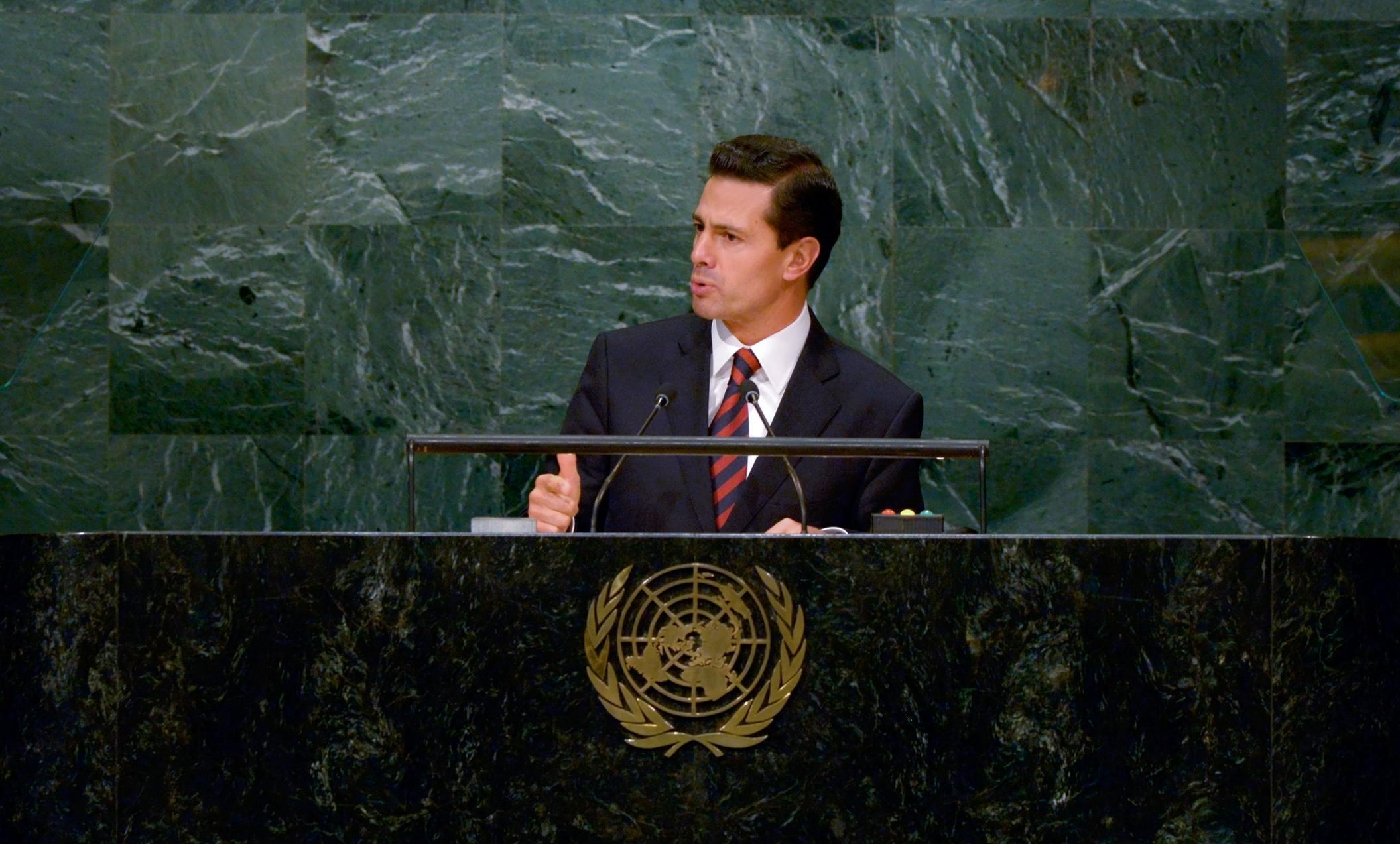 El Primer Mandatario participó en el Debate General de la Asamblea General de la Organización de las Naciones Unidas en su 71º Periodo de Sesiones.