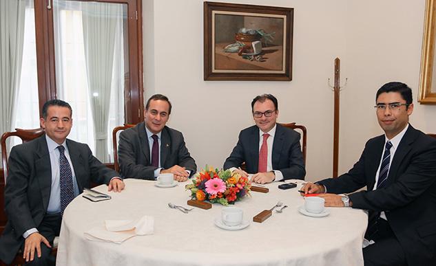 El Secretario de Hacienda y el Presidente de la COPARMEX en acuerdo para fortalecer el impulso a la productividad