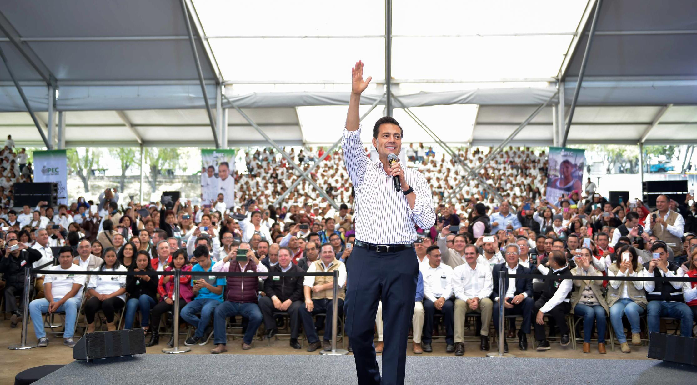 """""""Our country is changing, advancing, growing and being transformed thanks to the personal commitment of society as a whole and of millions of Mexicans who are dissatisfied with their current status and are determined to continue to grow and move forward""""."""