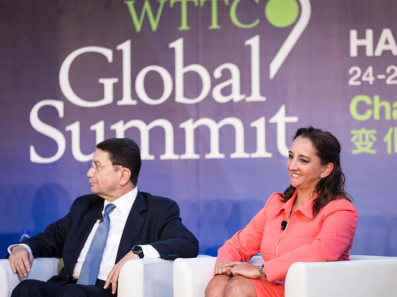 La Secretaria de Turismo del Gobierno de la República, Claudia Ruiz Massieu, en Hainan, China, por la 14° Cumbre Global del Consejo Mundial de Viajes y Turismo.