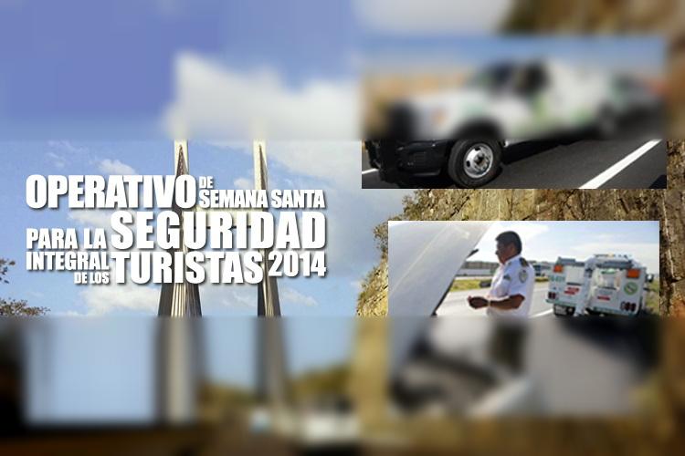 Ángeles Verdes en el Operativo de Semana Santa para la seguridad integral de los turistas 2014.