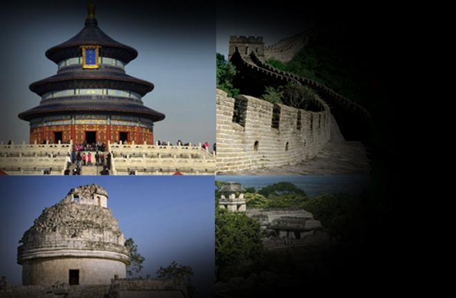 Sitios representativos de México y China.