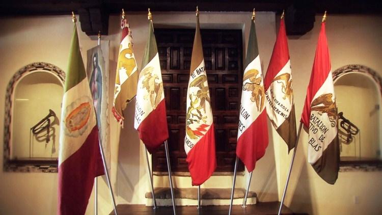 Banderas de México a lo largo de nuestra historia.