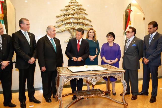 El Presidente Enrique Peña Nieto en el Centro Libanes con la Comunidad Libanesa en México.