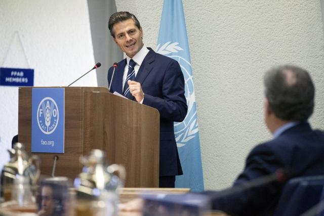 El presidente Enrique Peña Nieto dio un mensaje en la Sesión de Clausura de la 39 Conferencia de la FAO.