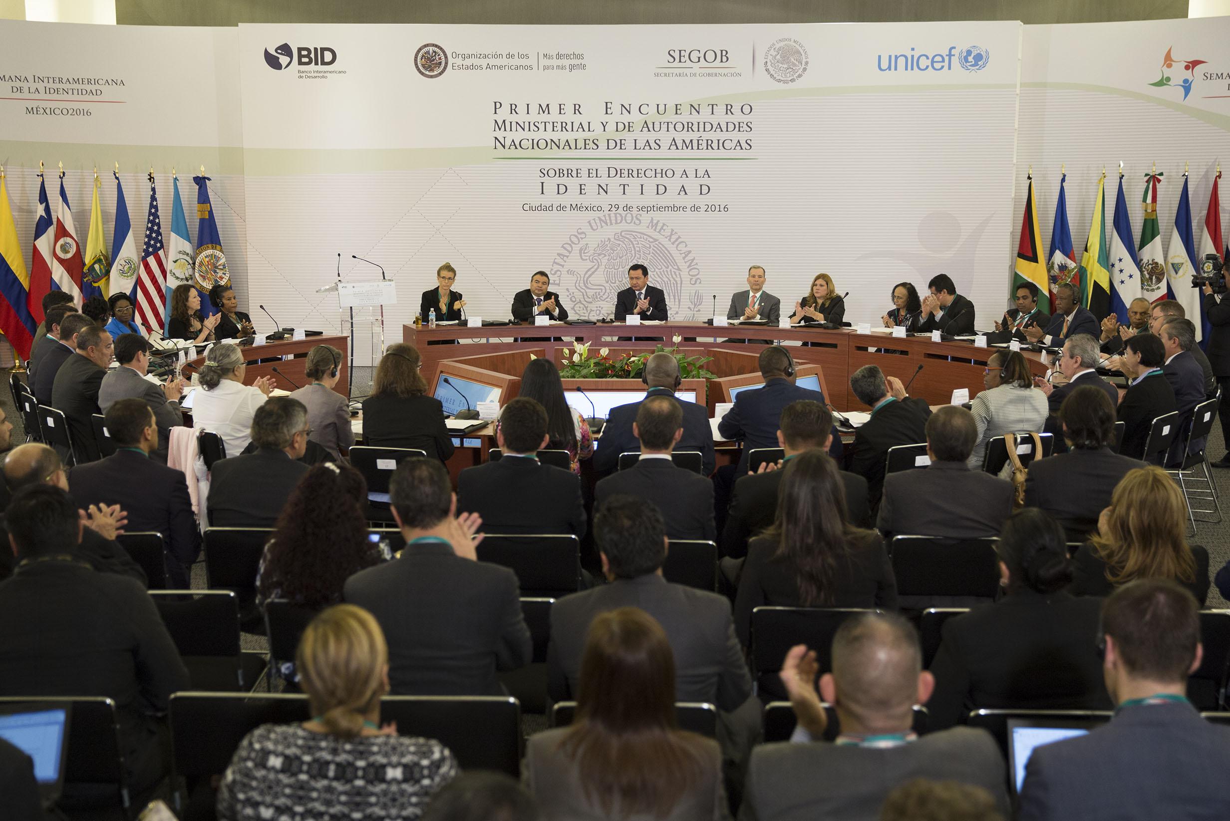 Participación del Secretario de Gobernación, Miguel Ángel Osorio Chong, en el Primer Encuentro Ministerial y de Autoridades Nacionales de las Américas sobre el derecho a la Identidad
