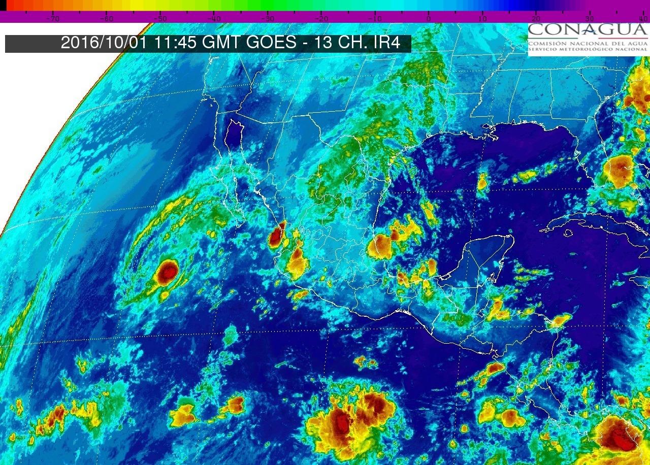 Se prevén tormentas muy fuertes en regiones de Durango, Zacatecas, Veracruz, Tabasco y Chiapas.