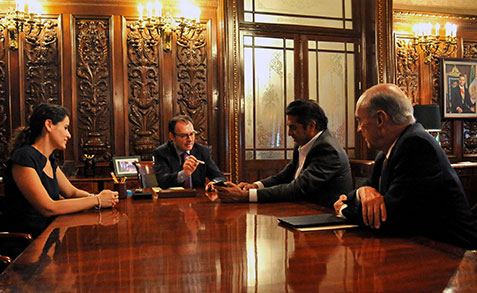 Luis Videgaray, con el gobernador electo de Nuevo León, Jaime Rodríguez Calderón