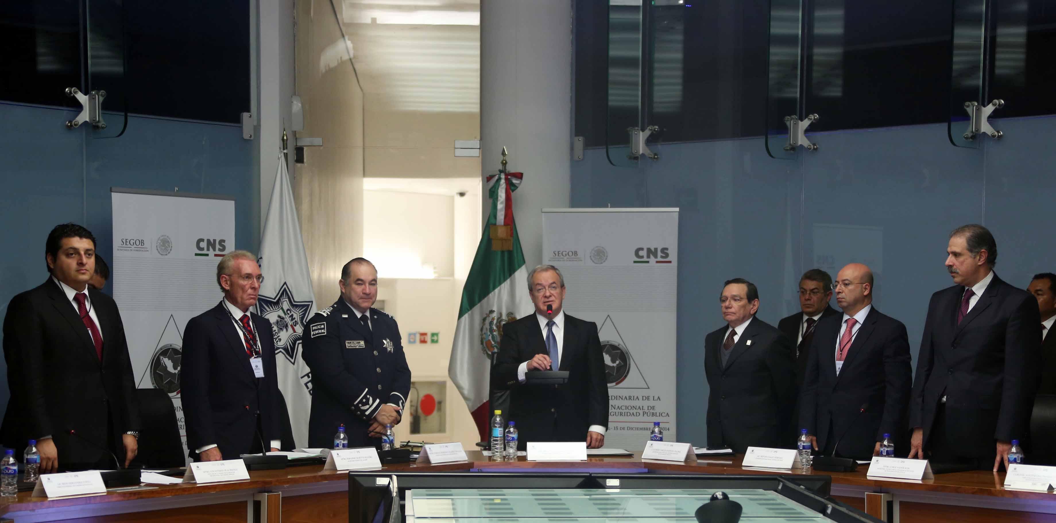 En la inauguración fue en las instalaciones de la Comisión Nacional de Seguridad, la Conferencia reunió a los responsables de la seguridad pública de los 31 estados y el Distrito Federal