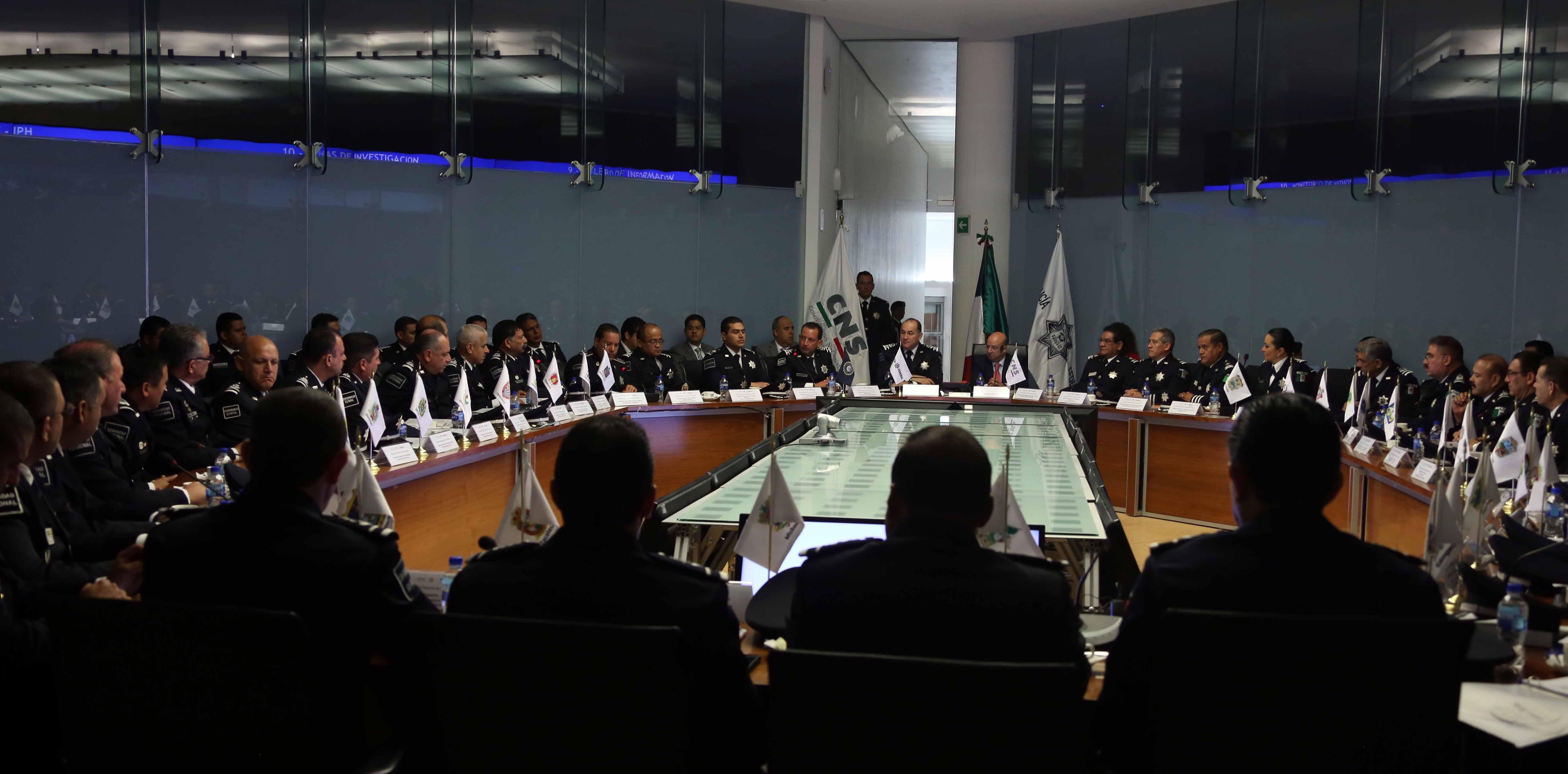 La reunión tuvo verificativo en la Sala Nacional de Mando del Centro de Inteligencia de la Policía Federal