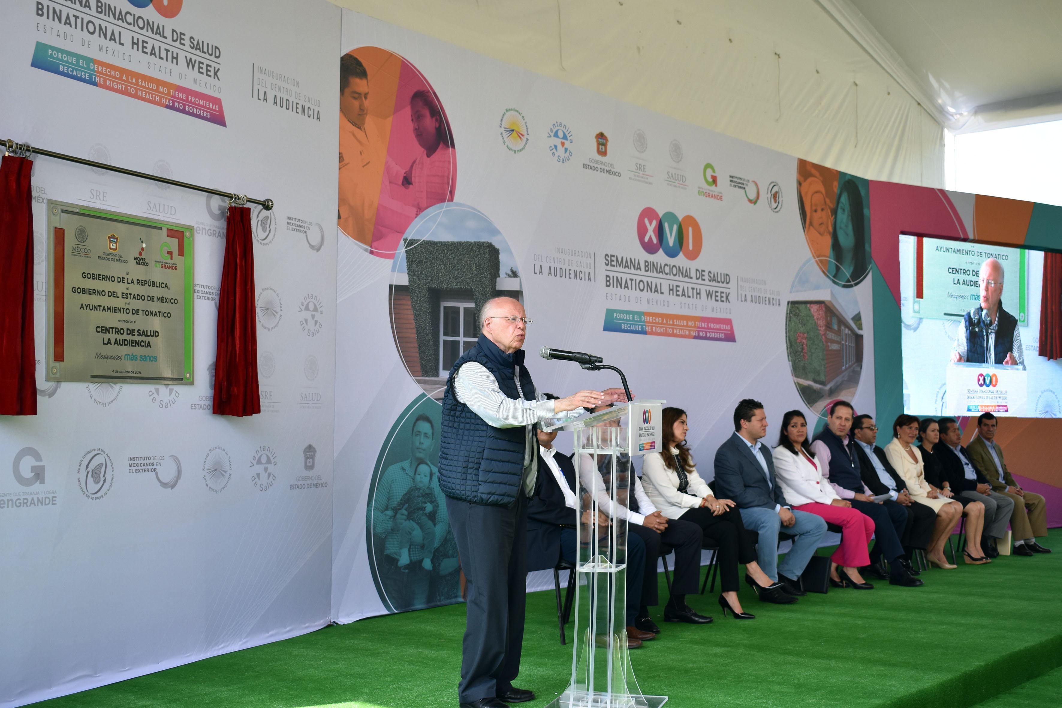 Mexico´s Minister of Health inaugurated the XVI Binational Health Week.