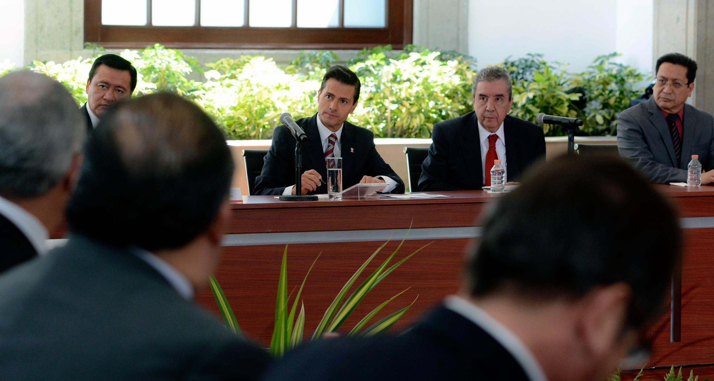 El Titular del Ejecutivo Federal dialogó con y los 33 representantes de distintas iglesias.