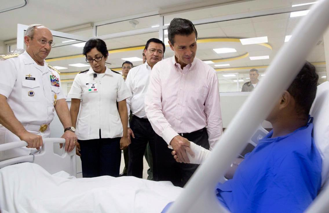 """They are an example and an inspiration to their comrades in arms"""": EPN"""