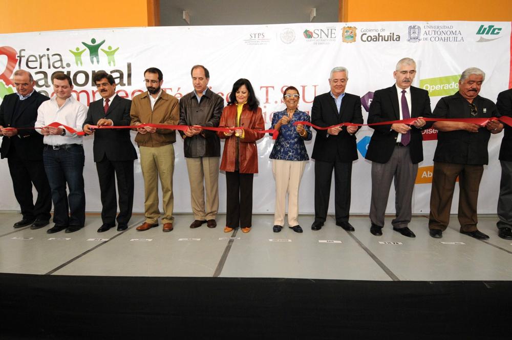 La Subsecretaria de Empleo y Productividad Laboral, Patricia Martínez Cranss, inauguró la Segunda Feria Nacional de Empleo dirigida a técnicos y profesionistas en Coahuila.