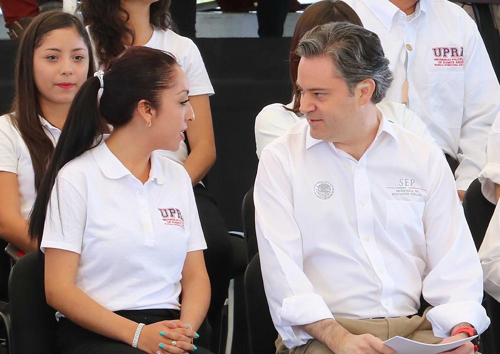Mensaje del secretario de Educación Púbica, Aurelio Nuño Mayer