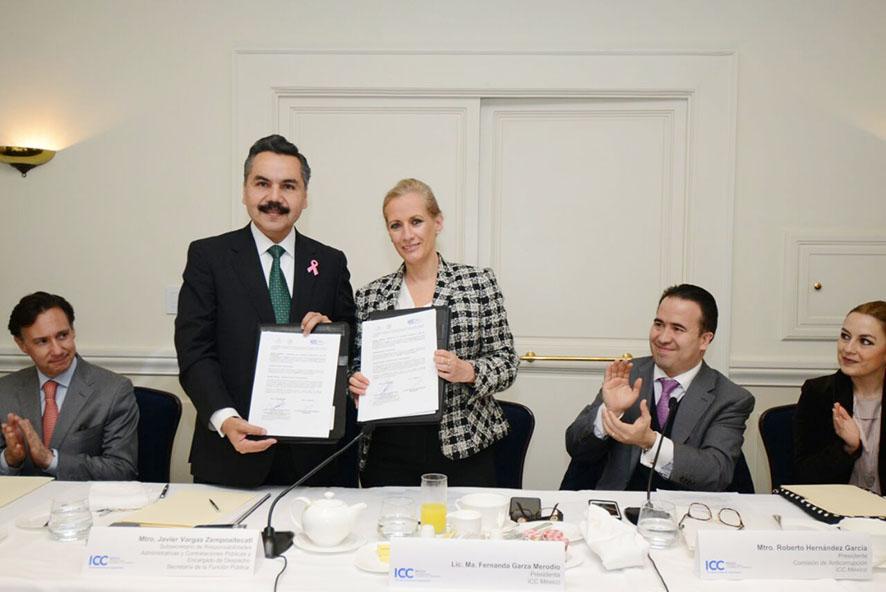 SFP y la ICC México firman Convenio de Colaboración para combatir la corrupción