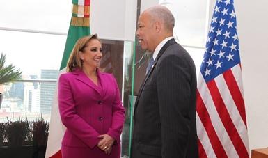 La Canciller Ruiz Massieu se reúne con el Secretario de Seguridad Interna, Jeh Johnson
