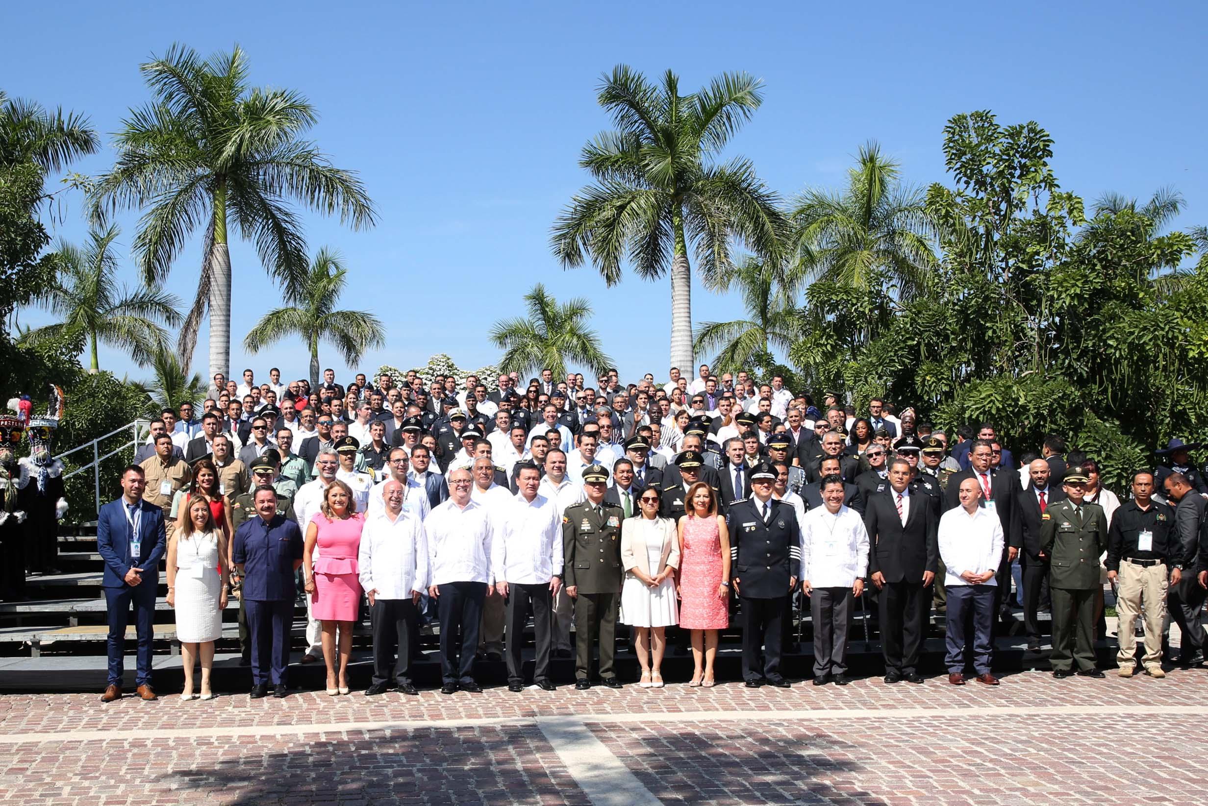 El Secretario de Gobernación, Miguel Ángel Osorio, durante la inauguración del Sexto Congreso Internacional de Lucha contra el Secuestro y la Extorsión