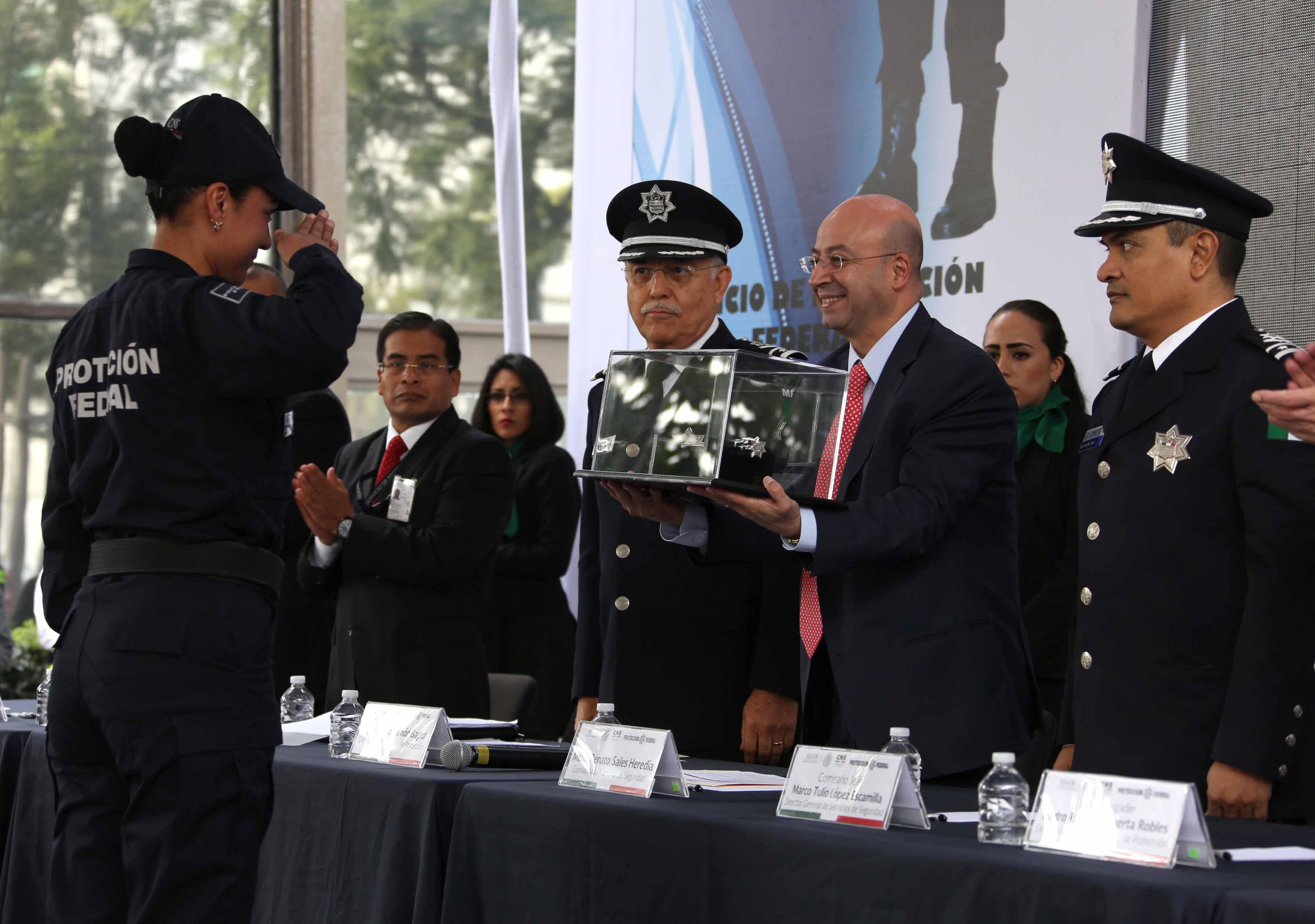 Exhortó a los 4 mil 800 elementos a  continuar en los esfuerzos para que Protección Federal se consolide como referente en seguridad y que sea cada vez más reconocido por los ciudadanos