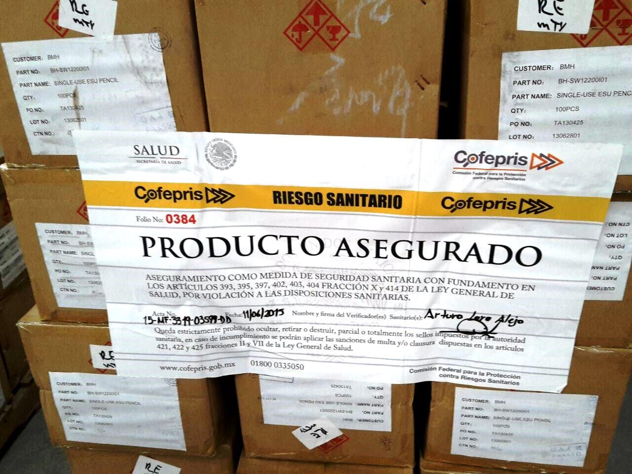 Aseguran más de 200 mil dispositivos médicos ilegales en Nuevo León y el Distrito Federal