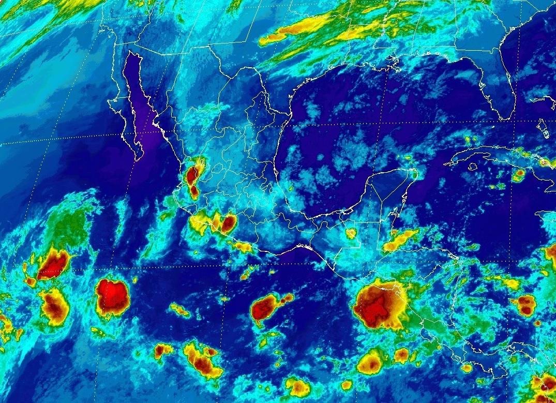 Tormentas fuertes, se prevén en Michoacán, Jalisco, Colima, Guerrero, Puebla, Veracruz, Tabasco, Chiapas y Quintana Roo