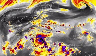 Durante la noche, se prevén tormentas de fuertes a muy fuertes en la Península de Yucatán, el occidente y el sureste de México