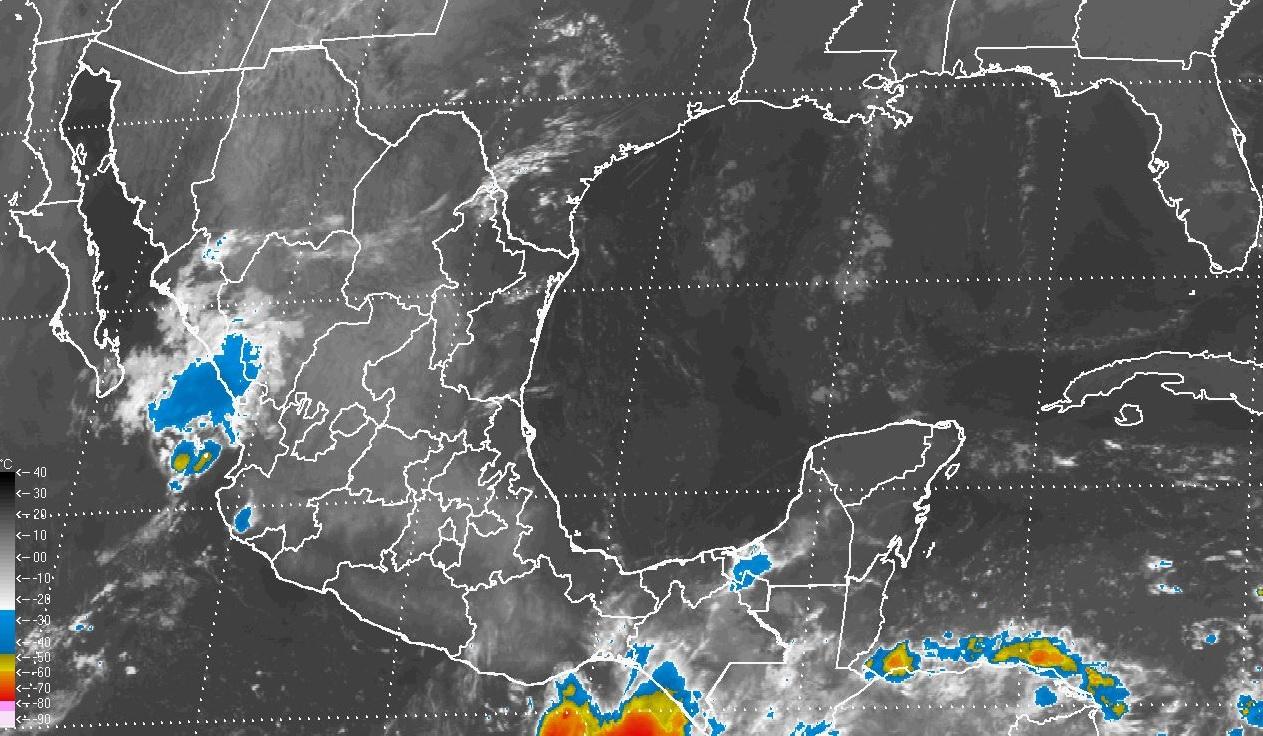 Se prevén tormentas muy fuertes en Chiapas, y fuertes en estados del centro, el sur y el oriente de México