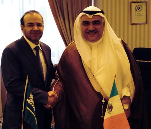 El Secretario del Trabajo y Previsión Social, Alfonso Navarrete Prida, y el Ministro de Trabajo de Arabia Saudita, Adel Fakieh
