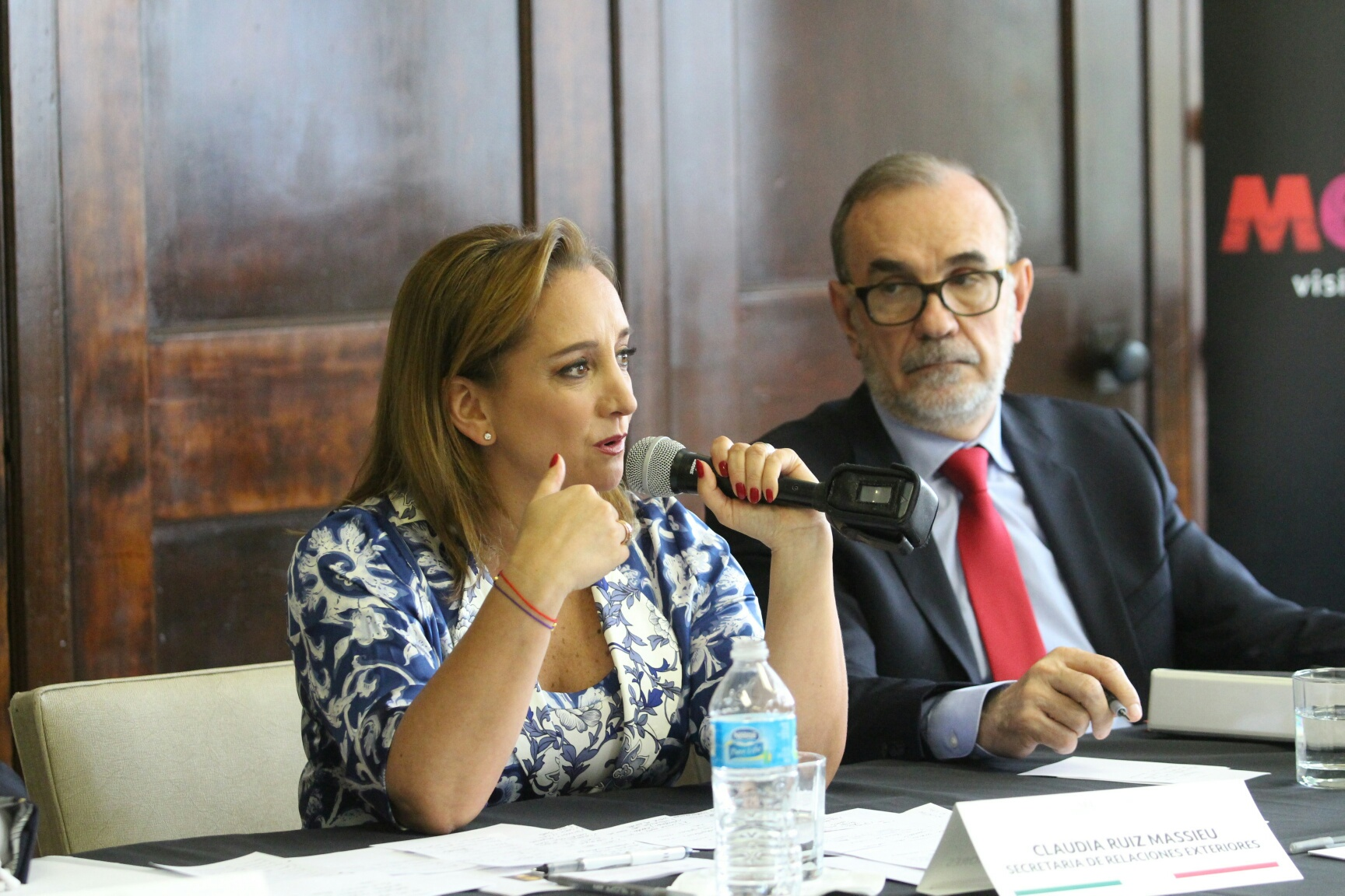 La Secretaria de Relaciones Exteriores Claudia Ruiz Massieu realizó hoy una visita de trabajo a Richmond, Virginia