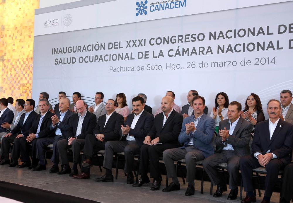 El titular de la STPS inauguró el XXXI Congreso Nacional de Seguridad y Salud Ocupacional de la Cámara Nacional del Cemento.