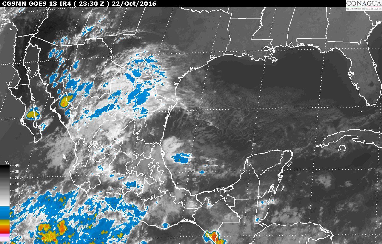 Continuará el pronóstico de tormentas intensas en Puebla, Veracruz, Oaxaca, Tabasco y Chiapas.