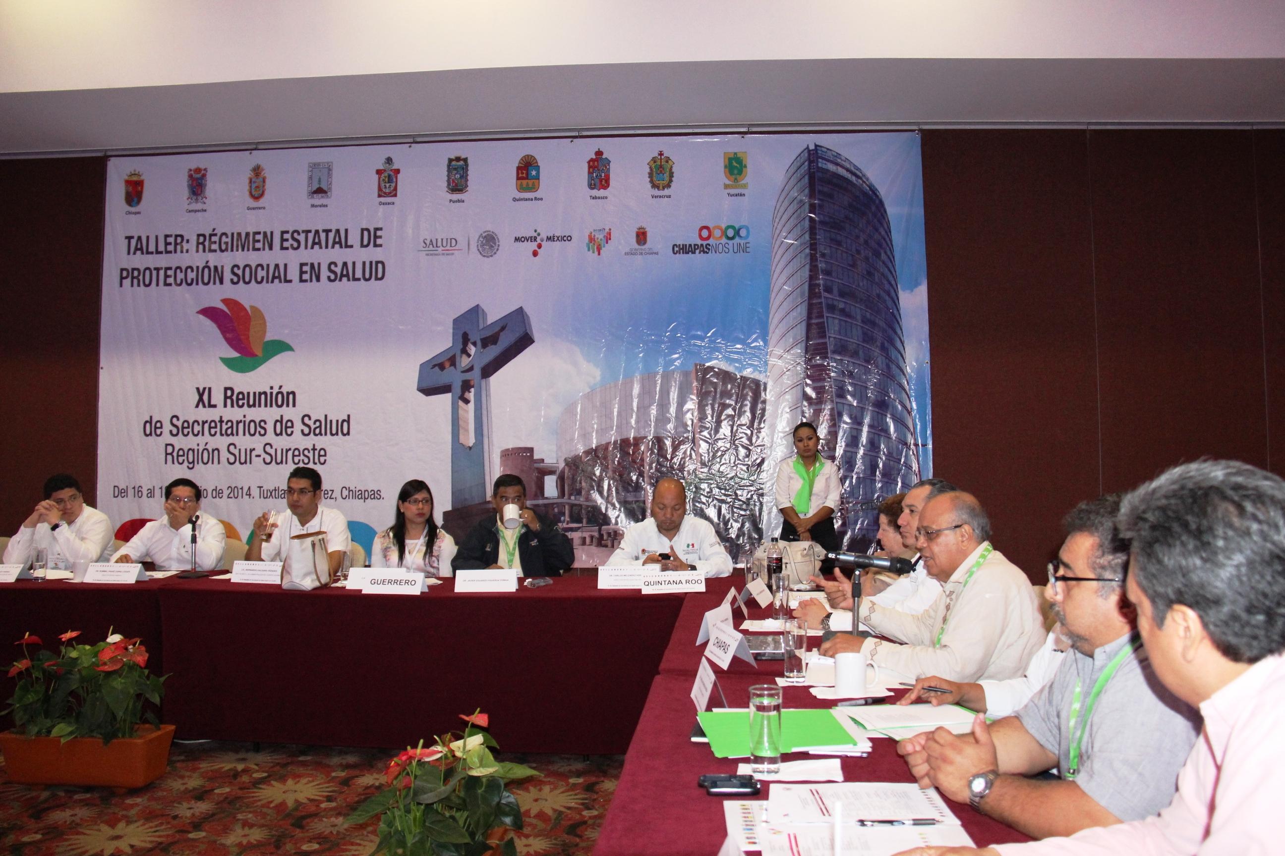 XL Reunión Regional de Secretarios de Salud, en la capital chiapaneca
