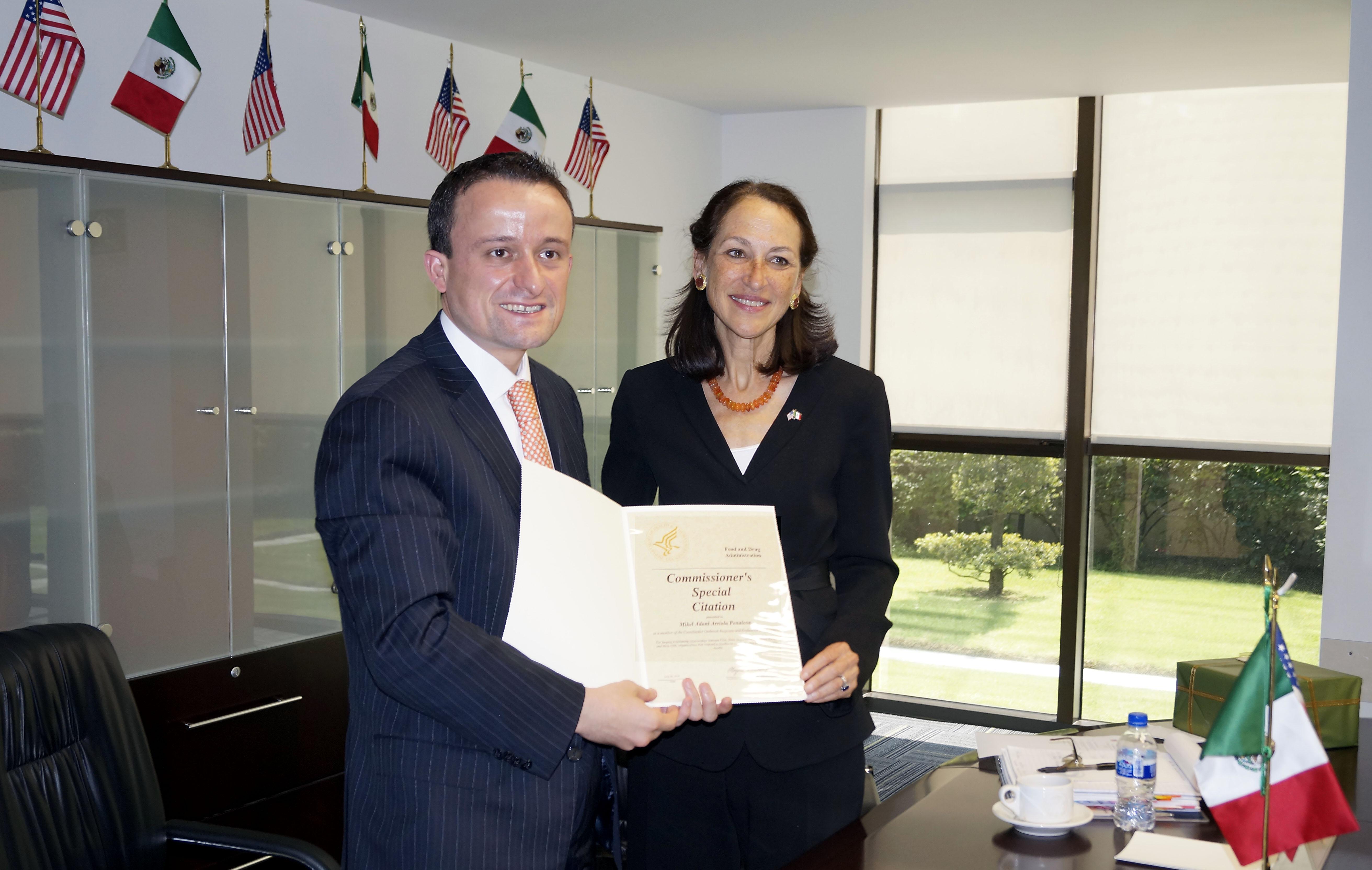 Visita de trabajo de la comisionada de la United States Food and Drug Administration (FDA) a México