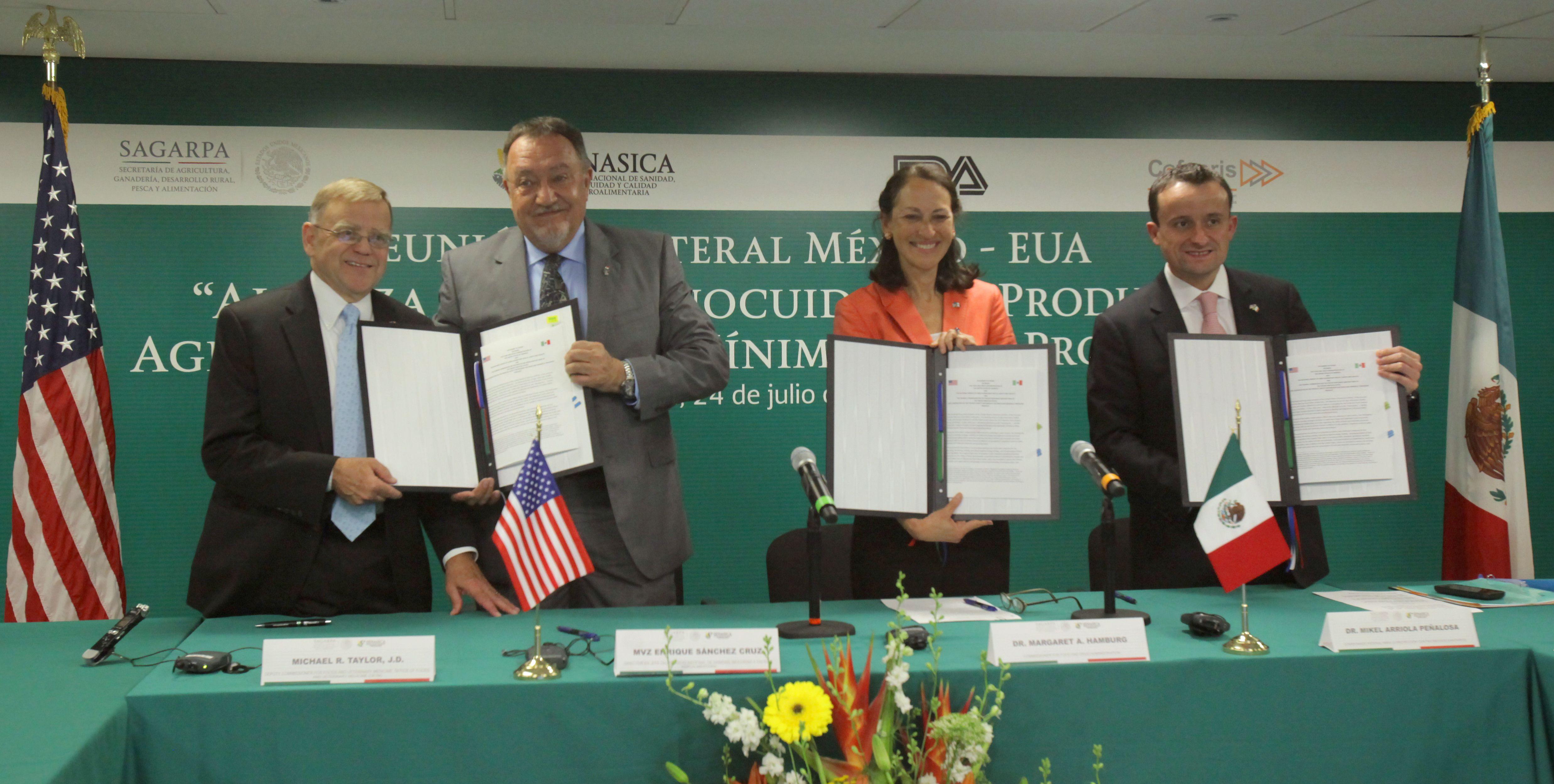 Firman México y Estados Unidos carta