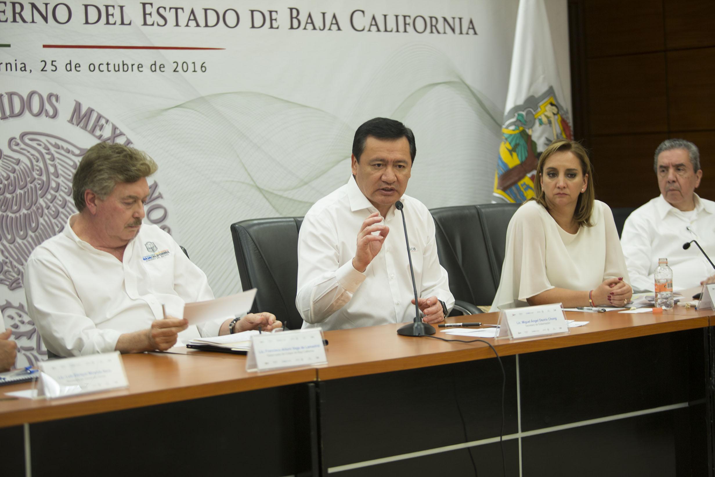La Canciller Claudia Ruiz Massieu realizó una gira de trabajo por el estado de Baja California junto al Secretario de Gobernación Miguel Ángel Osorio Chong y el Secretario de Desarrollo Social Luis Miranda Nava para atender la situación de migrantes haiti